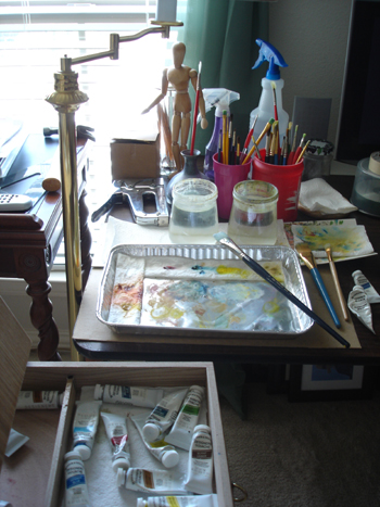 Palette work area