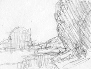 Pencil sketch A